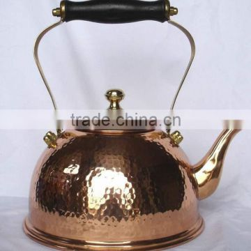 BPA free Pure Copper hammered polished finish tea kettle