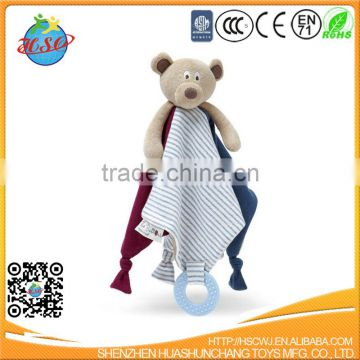 Brown Bear Activity Doudou with Teething Ring