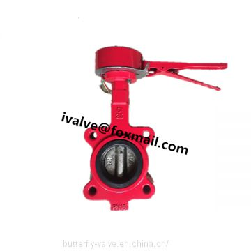 Cast Iron Lever Butterfly Valve With Micro Switch