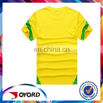 Cheap customized yellow low price soccer uniform