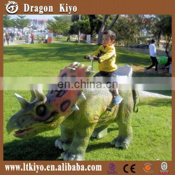 2015 hot sales animatronic mechanical coin operated dinosaur rides