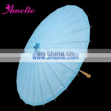 A0389-blue Wedding blue handmade paper umbrellas
