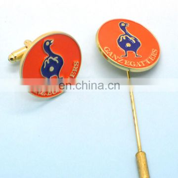 Wholesale promotion russia cheap hat pins long neddle lapel pin with custom logo