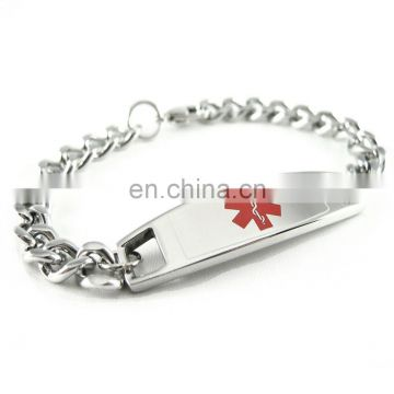 silver plated bracelet with engraved metal plates