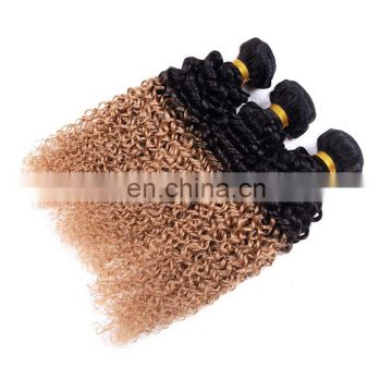 fashion T 1b 27 ombre color hair extension curly wave brazilian hair extension