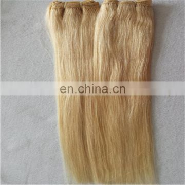 Blonde color peruvian human hair extension