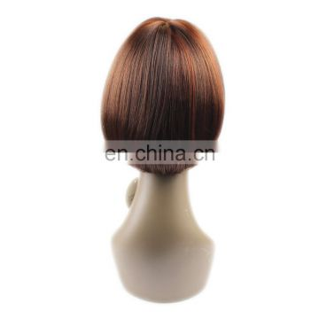 Ombre Color Silky Straight Wave Fashion 8Inch Bob Synthetic Wigs For Black Women Hair Wig