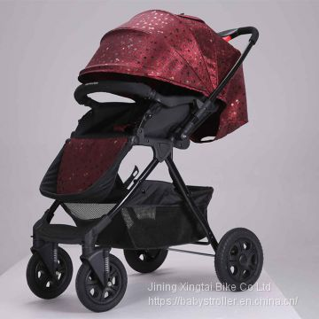 high quality high landscape mother baby stroller foldable baby carriage