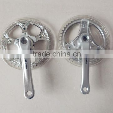 Silver Alloy 48T 165mm Bicycle freewheel Crank