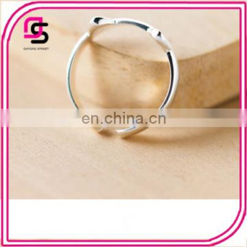 2017 new style sterling silver opening adorable cat ear ring Agent