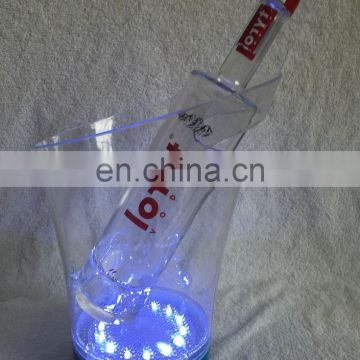 battery operated rechargeable led illuminated ice bucket