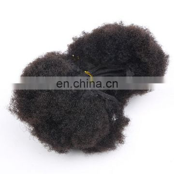 Factory Wholesle High Quality Afro Kinky Curl Human Hair Weft Double Drawn