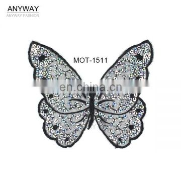 New design sequin neckline;sequin motif;seqiun collar for ladies garment