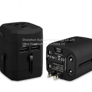 hot selling UAE travel adapter with 2 USB universal adapter all in one power adaptor for medicine gifts