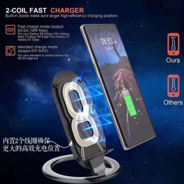 Mobile Phone Induction Charger Charge 10w Fast Dual wireless Hot Selling Double Coils