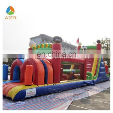 Football theme inflatable obstacle course, kids obstacle course