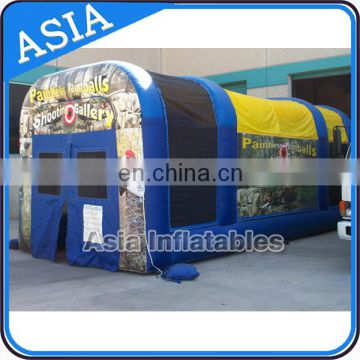 Custom Big Inflatable Paintball Tent / Outdoor Inflatable Paintball For Events