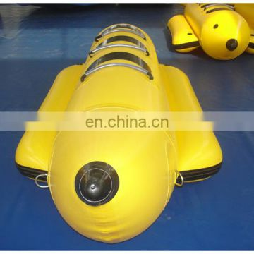 2015 new banana boat with yellow colour, 3-seat inflatable banana boat water game