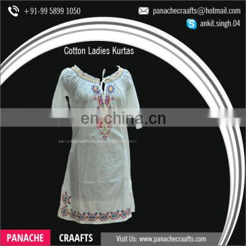 Fancy Short Cotton Kurti Designs, Beaded Kurtis for Sale