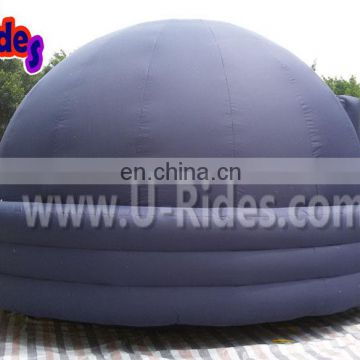blue nylon oxford portable planetarium inflatable dome tent for education