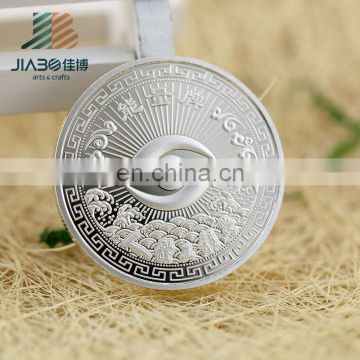 China factory custom made silver challenge souvenir metal coin for Wholesale