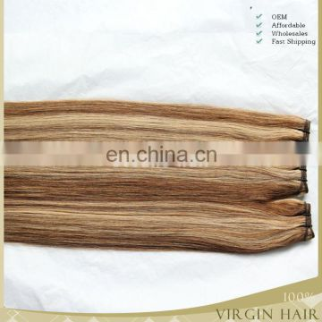 wholesale tope grade thick ends brazilian human hair piano color hair extension