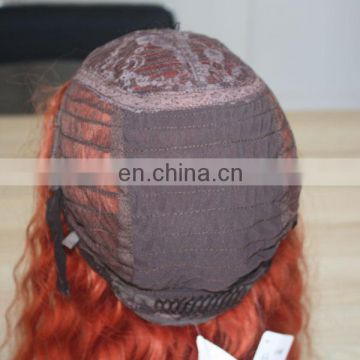 Customized human hair wig to quality origin color deep wave hair wig making machine