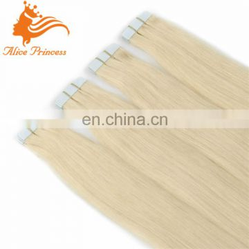 tape in human hair extensions 2.5g/s #613 Blonde Skin Weft Hair Extensions Adhesive optical adhesive tape
