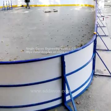 dasher board system for outdoor inline ,ice hockey and skating