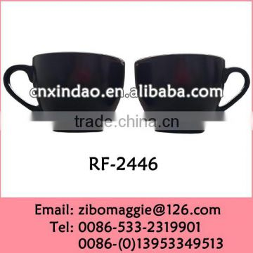 Zibo Made Glazed Belly Shape Porcelain Soup Water Personalized Party Cup