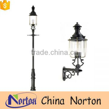 Outdoor Tall pedestal Antique iron lamppost pole NTILP-013Y