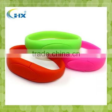 2GB 4GB 8GB factory directly sell cheap custom silicone USB bracelets