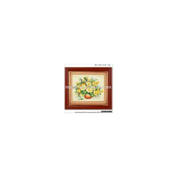 quenna flower and grass cross-stitch finished product hand-knitted cross stitch,