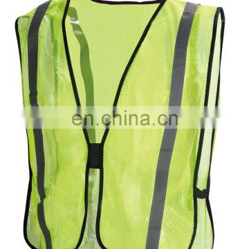 Reflective Safety Mesh Orange Vest Elastic band