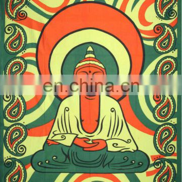Buddha Printed Tapestry bedspread