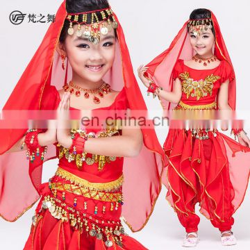 Indian Children belly dance costume set with top and pant ET-057#