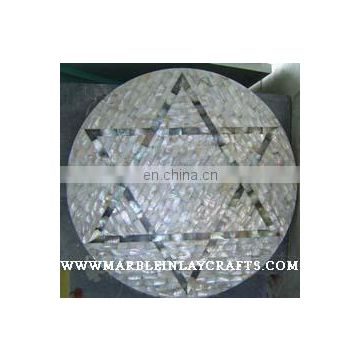 Round Mother Of Pearl Table Top, Sea Shell Table Tops