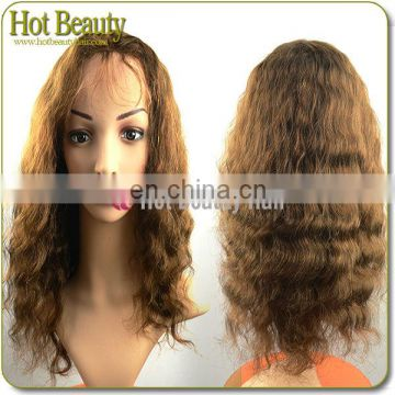 Wholesale price Virgin remy italian curl human hair lace wigs