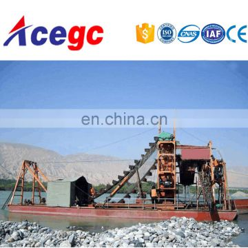 Ladder bucket chai sand/gold dredging mining equipment for sale