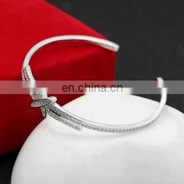 S925 pure silver plated bracelet America and Europe pop bracelet