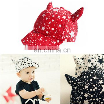 Wholesale New Style Cute Cartoon Neutral Cotton Snapback Bassball Cap Baby Hat