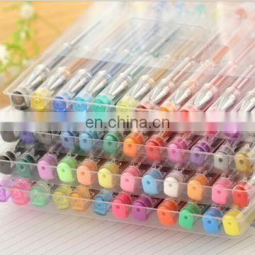 48 Piece Pen Set of Multicolor Gel Pens - Ideal for Scrapbooking, Coloring, Doodling, Sketching and Craft - Includes Metallic, N