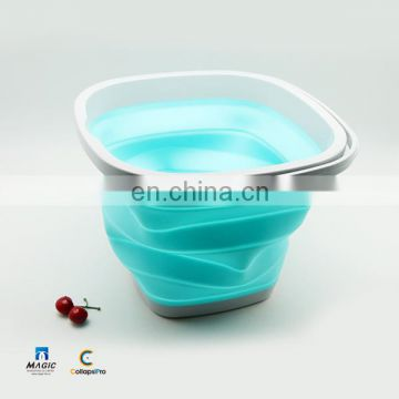 15L Square Collapsible Plastic Bucket