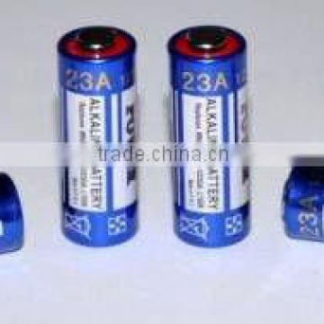 Alkaline cylindrical battery 23A