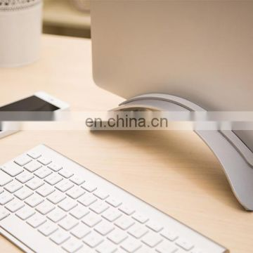 BookArc for MacBook Stand Holder, Space-saving Vertical Laptop Stand Desktop Stand for Notebook