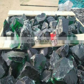 natural green glass rock for gabion