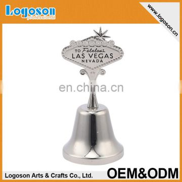 Wholesales types nickel plating finished metal dinner antique souvenir bell