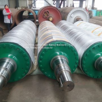 rubber press roll for paper machine