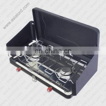 2015 Outdoor BBQ Two Burner Camping Stove China Supplier