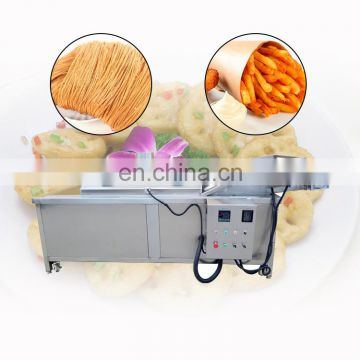Continuous belt onion rings vacuum fryer frying machine